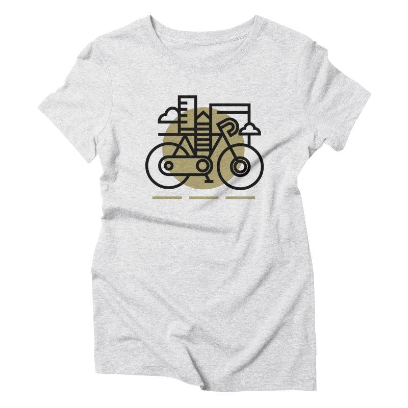 City Bike Women's Triblend T-Shirt by Koivo's Artist Shop