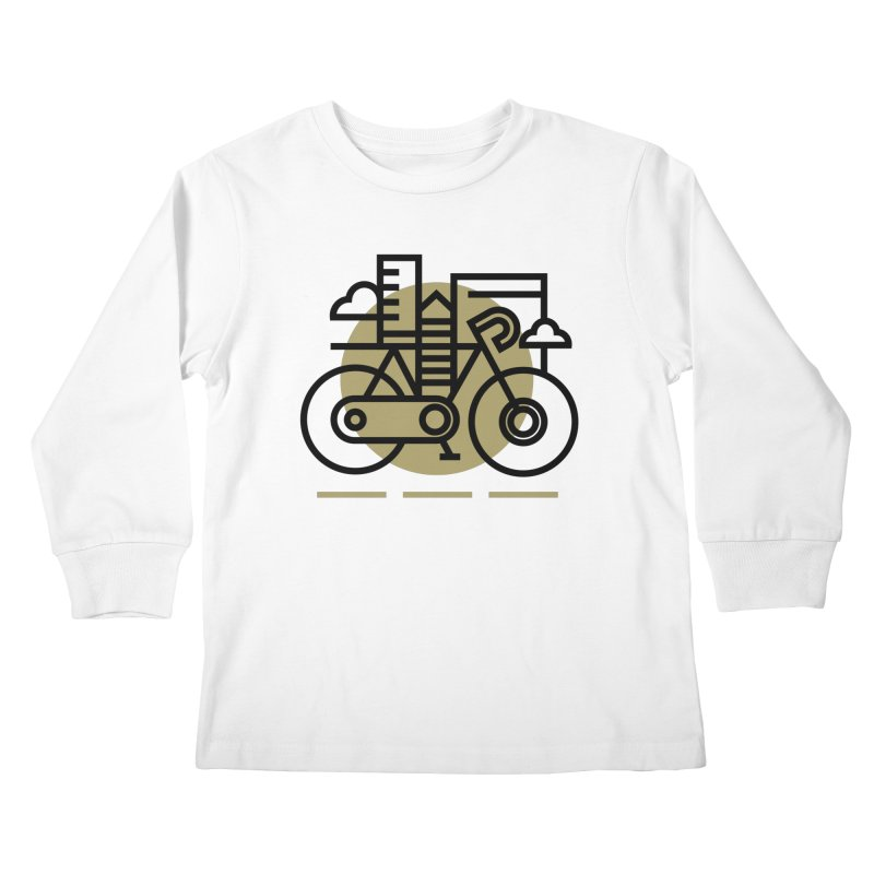 City Bike Kids Longsleeve T-Shirt by Koivo's Artist Shop