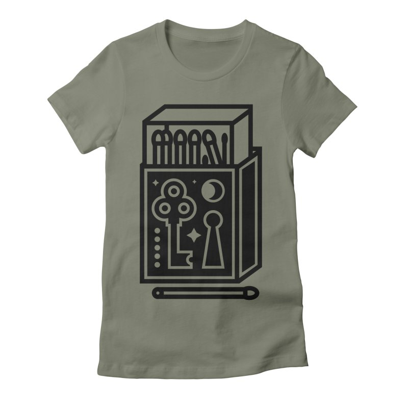 Matchbox Women's Fitted T-Shirt by Koivo's Artist Shop