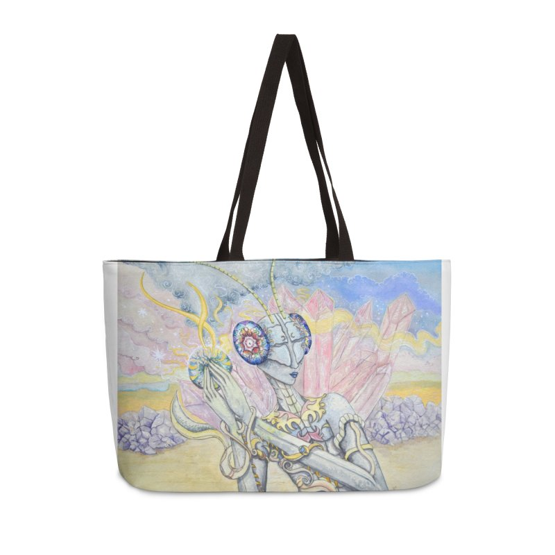 Crystal Mantis Accessories Bag by Kat Shevchenko's Artist Shop