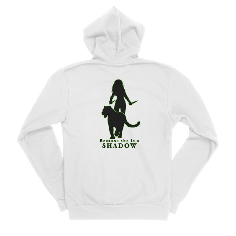 Because she is a shadow Men's Zip-Up Hoody by Kristen Banet's Universe