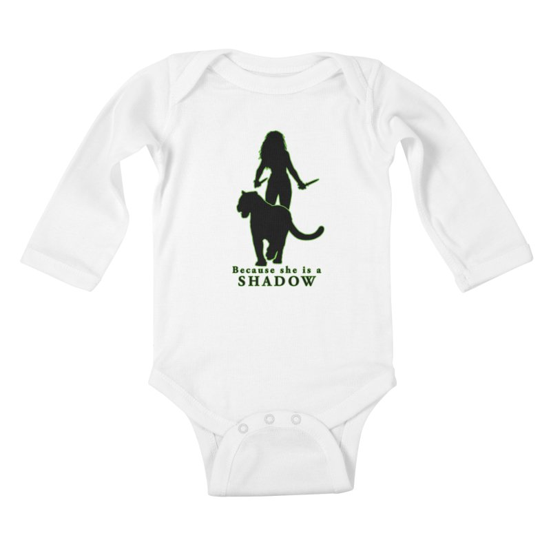 Because she is a shadow Kids Baby Longsleeve Bodysuit by Kristen Banet's Universe