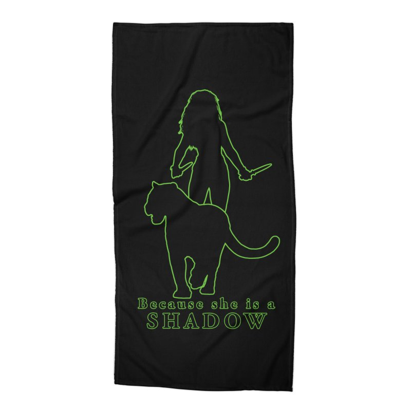 Because she is a shadow Accessories Beach Towel by Kristen Banet's Universe