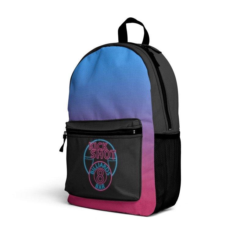 Kick Shot- Jacky Leon's Bar GLOW Accessories Bag by Kristen Banet's Universe