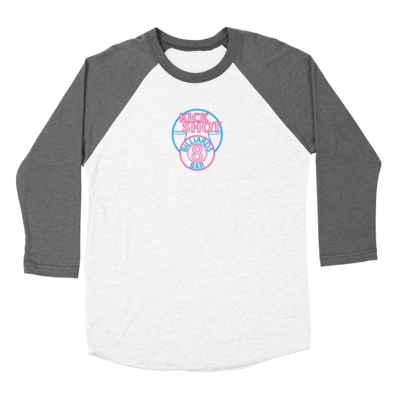 Kick Shot- Jacky Leon's Bar GLOW Women's Longsleeve T-Shirt by Kristen Banet's Universe
