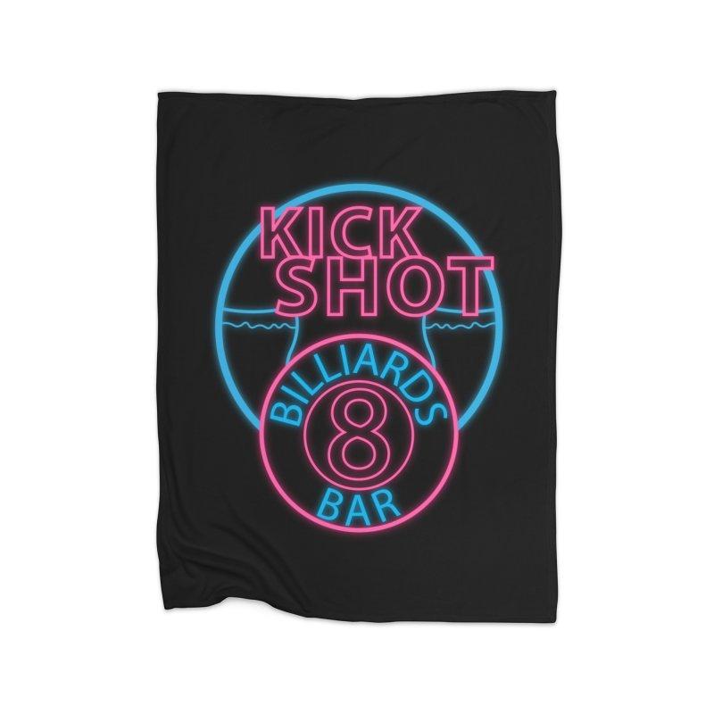 Kick Shot- Jacky Leon's Bar GLOW Home Blanket by Kristen Banet's Universe