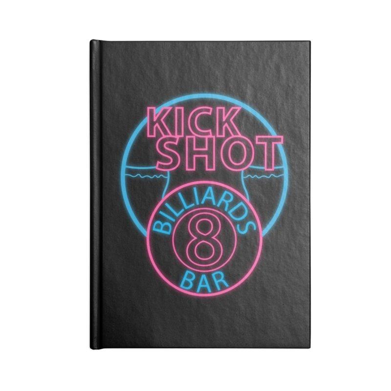 Kick Shot- Jacky Leon's Bar GLOW Accessories Notebook by Kristen Banet's Universe