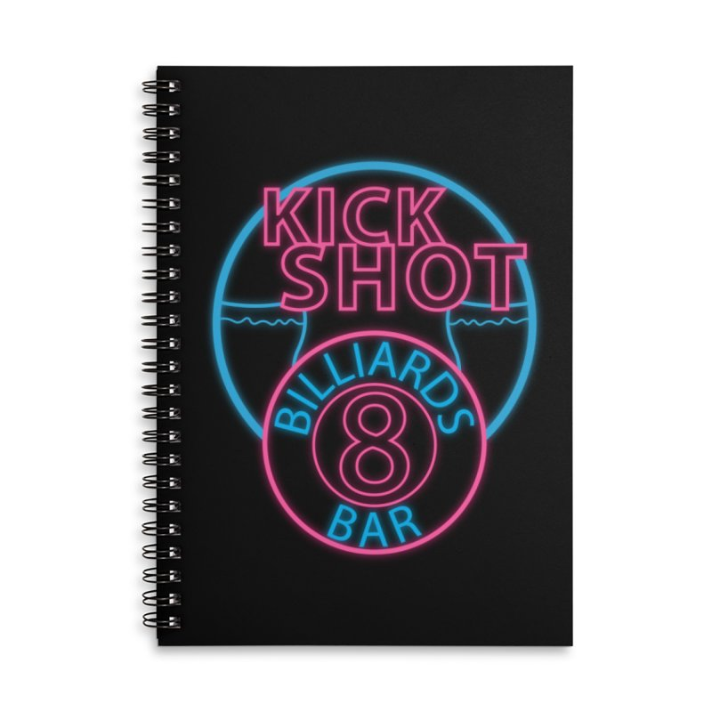 Kick Shot- Jacky Leon's Bar GLOW Accessories Notebook by Kristen Banet's Universe