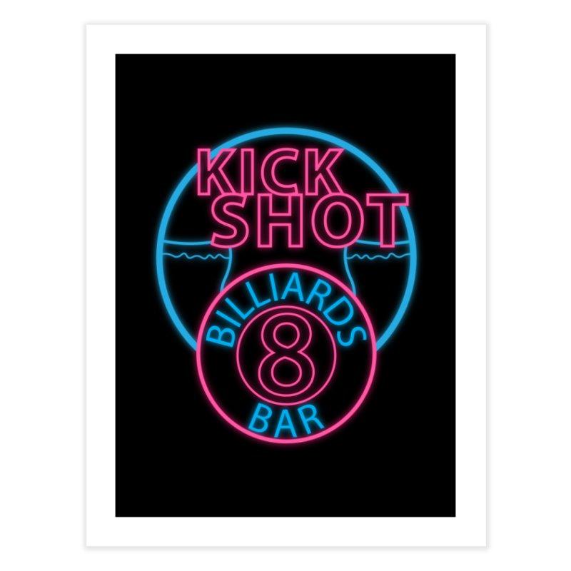Kick Shot- Jacky Leon's Bar GLOW Home Fine Art Print by Kristen Banet's Universe