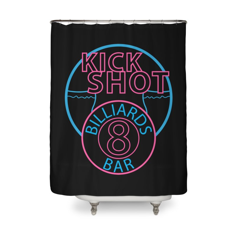 Kick Shot Home Shower Curtain by Kristen Banet's Universe