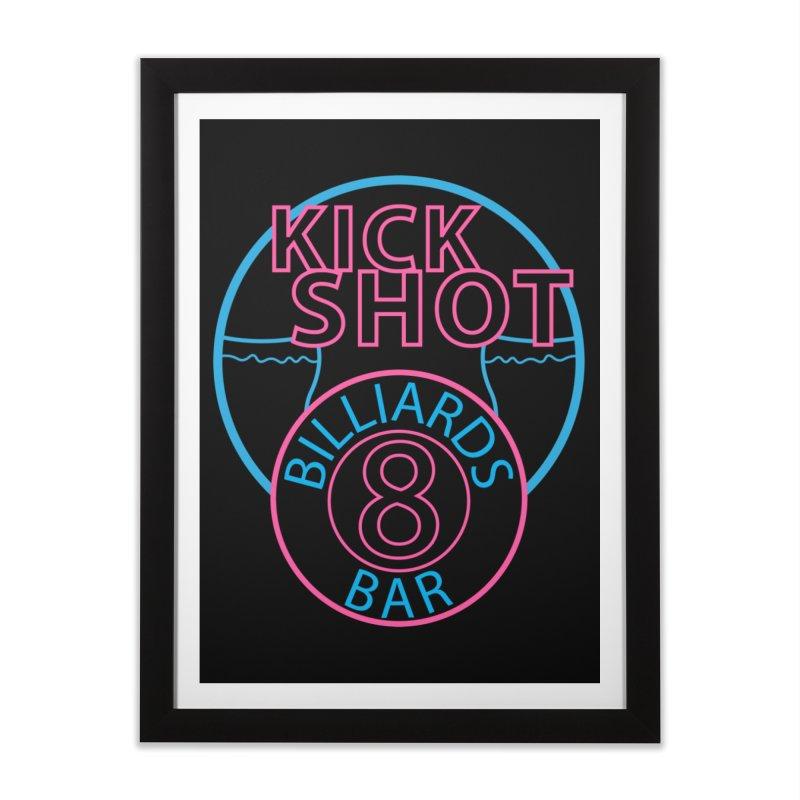 Kick Shot Home Framed Fine Art Print by Kristen Banet's Universe