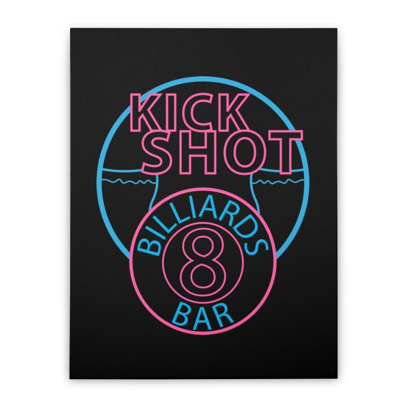 Kick Shot Home Stretched Canvas by Kristen Banet's Universe