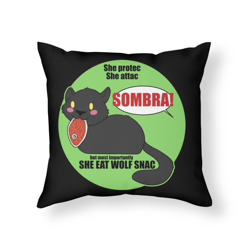 Sombra Meme Home Throw Pillow by Kristen Banet's Universe