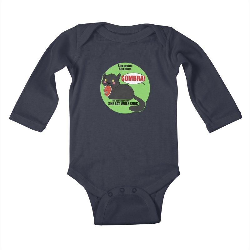 Sombra Meme Kids Baby Longsleeve Bodysuit by Kristen Banet's Universe