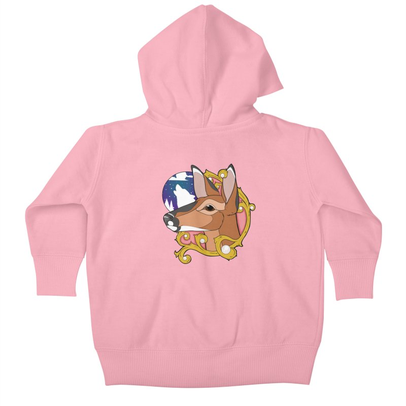 Abigail- The Innocent Doe (Full Color) Kids Baby Zip-Up Hoody by Kristen Banet's Universe