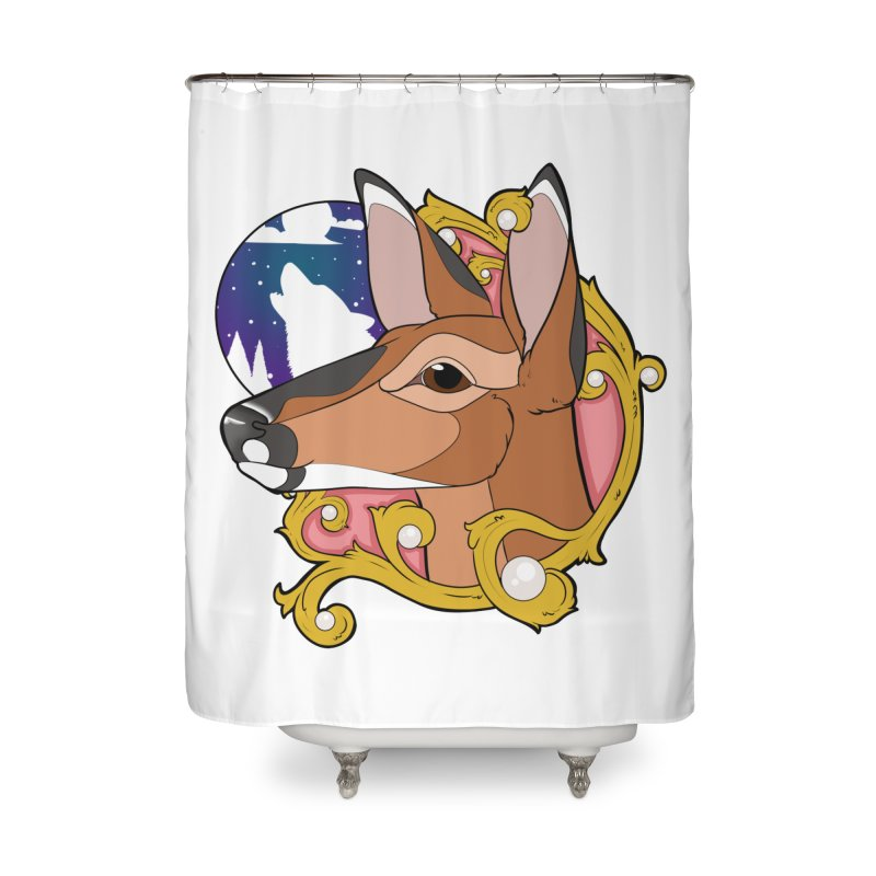 Abigail- The Innocent Doe (Full Color) Home Shower Curtain by Kristen Banet's Universe