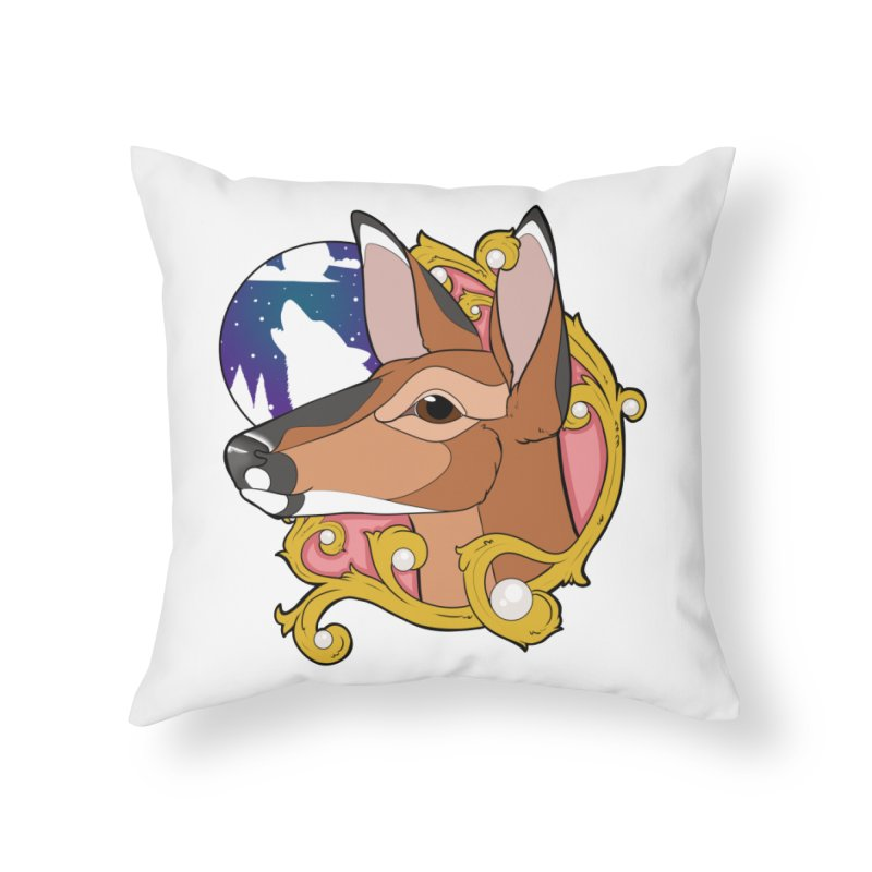 Abigail- The Innocent Doe (Full Color) Home Throw Pillow by Kristen Banet's Universe