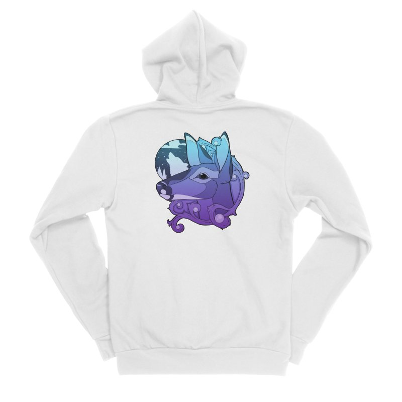Abigail- The Innocent Doe (Gradient) Women's Zip-Up Hoody by Kristen Banet's Universe
