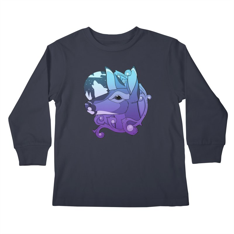 Abigail- The Innocent Doe (Gradient) Kids Longsleeve T-Shirt by Kristen Banet's Universe