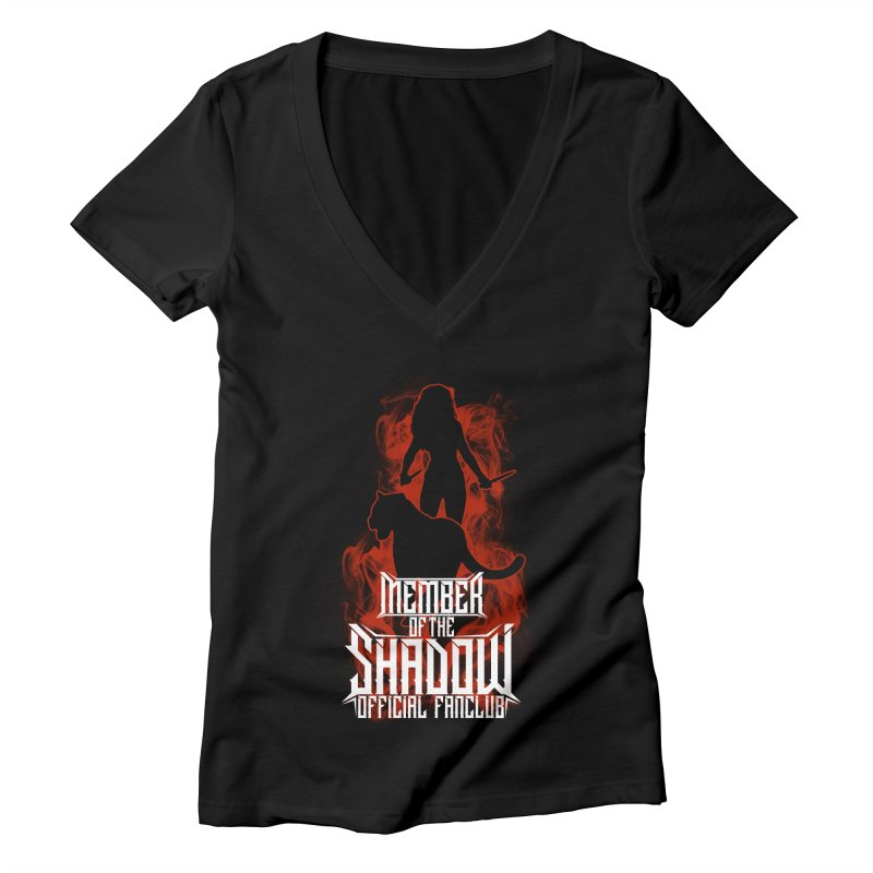 Sawyer and Sombra Fan Club Women's V-Neck by Kristen Banet's Universe
