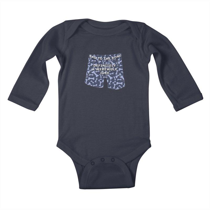 A Werewolf Joke Kids Baby Longsleeve Bodysuit by Kristen Banet's Universe