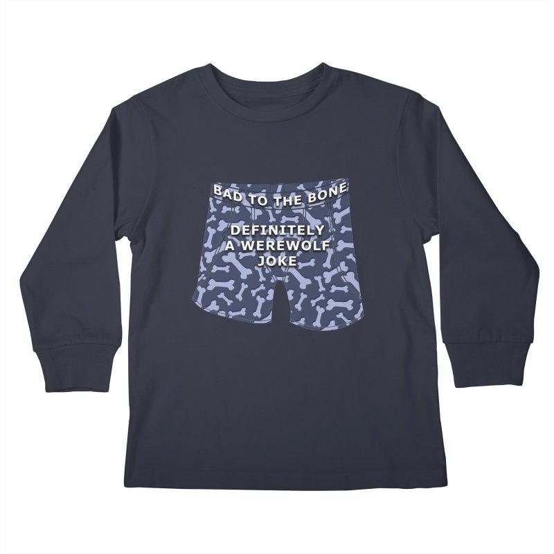 A Werewolf Joke Kids Longsleeve T-Shirt by Kristen Banet's Universe