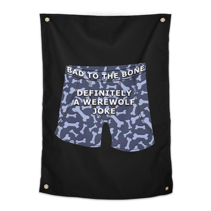 A Werewolf Joke Home Tapestry by Kristen Banet's Universe