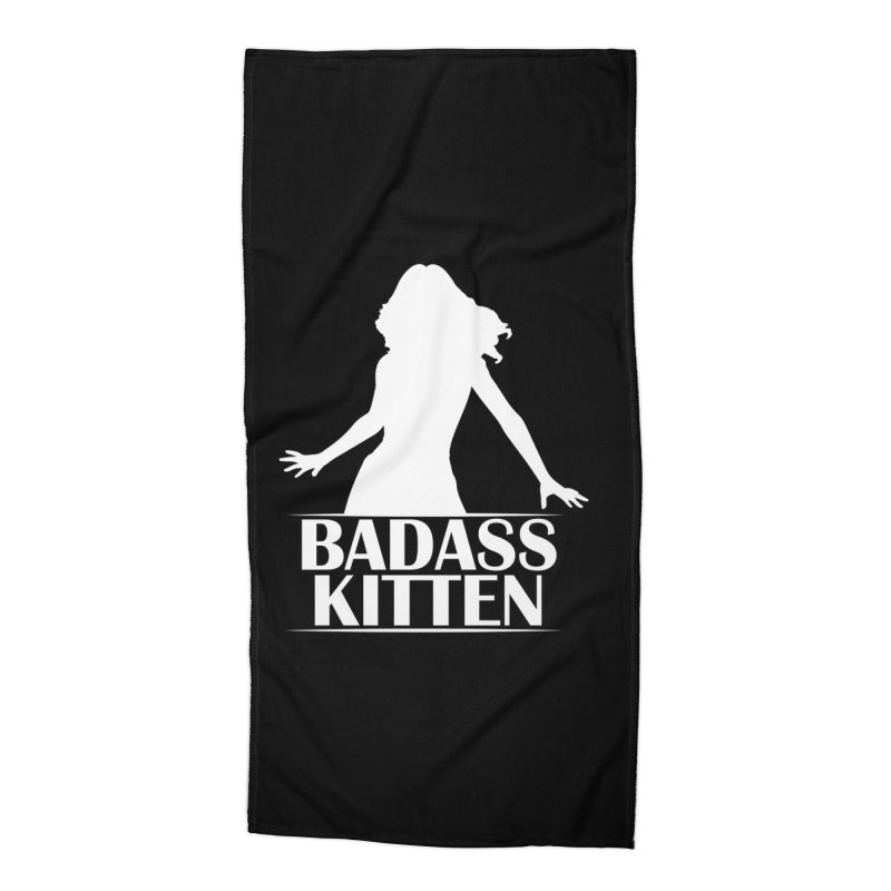Badass Kitten- Jacky Leon Accessories Beach Towel by Kristen Banet's Universe
