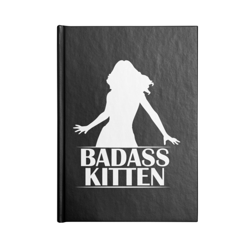 Badass Kitten- Jacky Leon Accessories Notebook by Kristen Banet's Universe