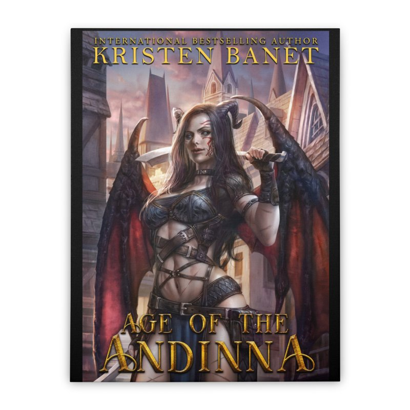 Age of the Andinna Vol 1 Cover Art Home Stretched Canvas by Kristen Banet's Universe