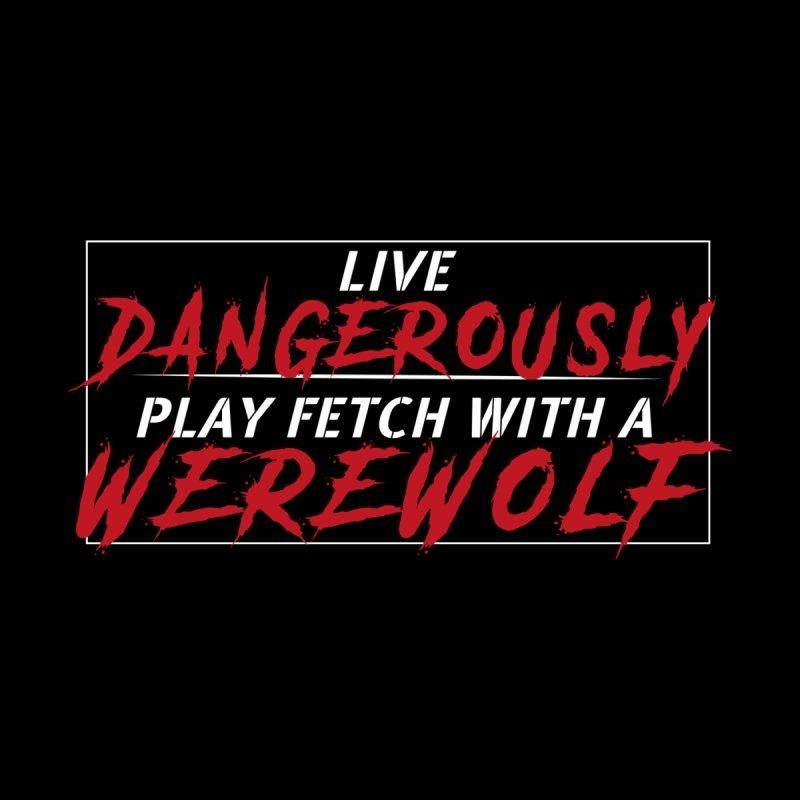 Live Dangerously: White Men's Longsleeve T-Shirt by Kristen Banet's Universe