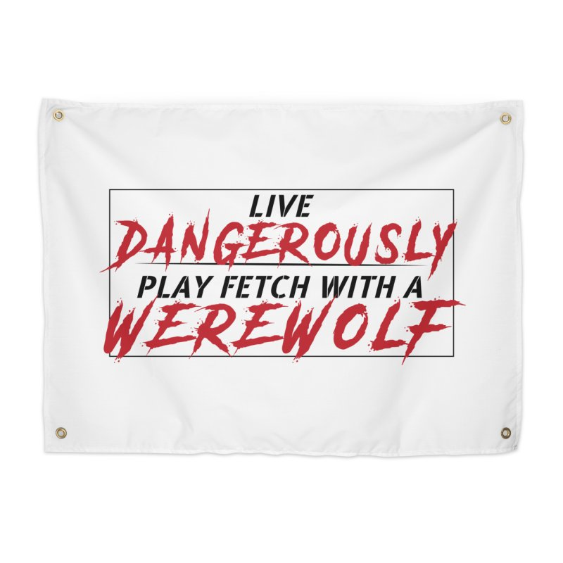 Live Dangerously: Black Home Tapestry by Kristen Banet's Universe