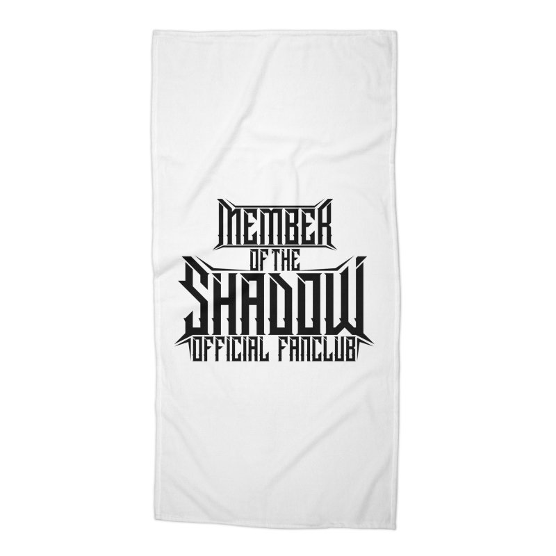 Shadow Official Fanclub Black Accessories Beach Towel by Kristen Banet's Universe