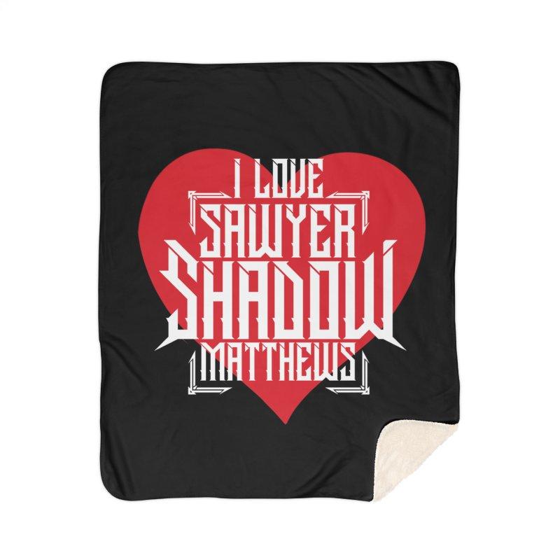 I love Sawyer 'Shadow' Matthews White Home Blanket by Kristen Banet's Universe