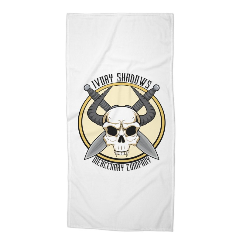 Ivory Shadow Merc Company Accessories Beach Towel by Kristen Banet's Universe