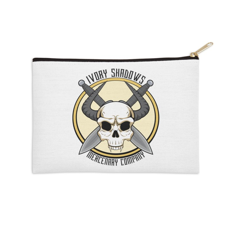 Ivory Shadow Merc Company Accessories Zip Pouch by Kristen Banet's Universe
