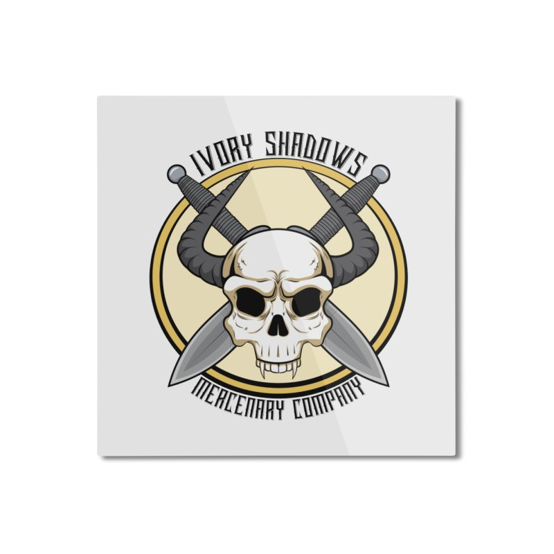 Ivory Shadow Merc Company Home Mounted Aluminum Print by Kristen Banet's Universe