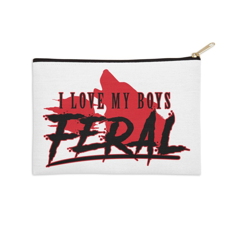 Feral Boys- Wolf Accessories Zip Pouch by Kristen Banet's Universe
