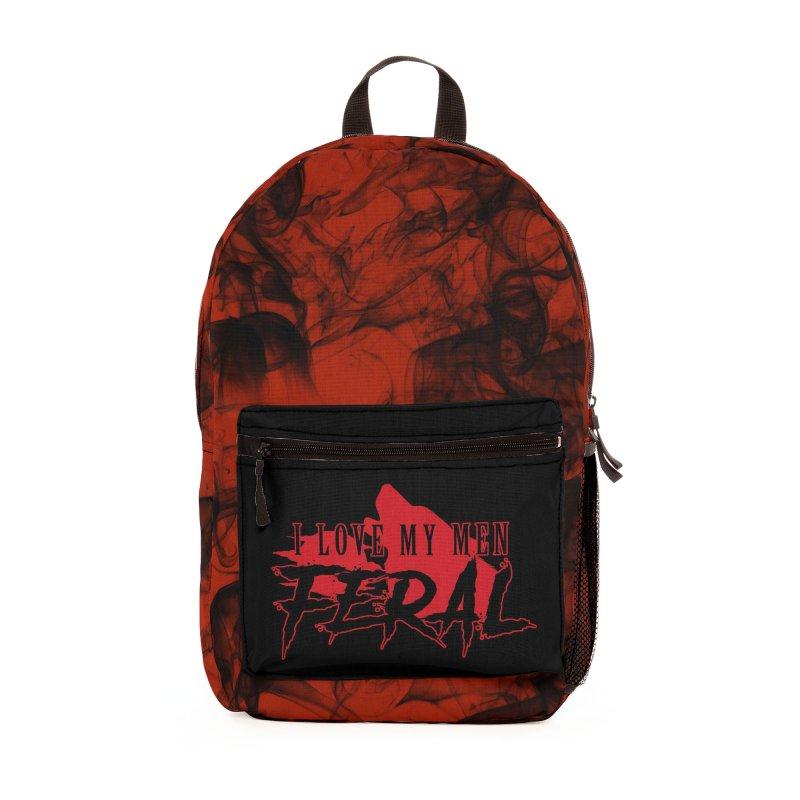 Feral Men- Wolf Accessories Bag by Kristen Banet's Universe