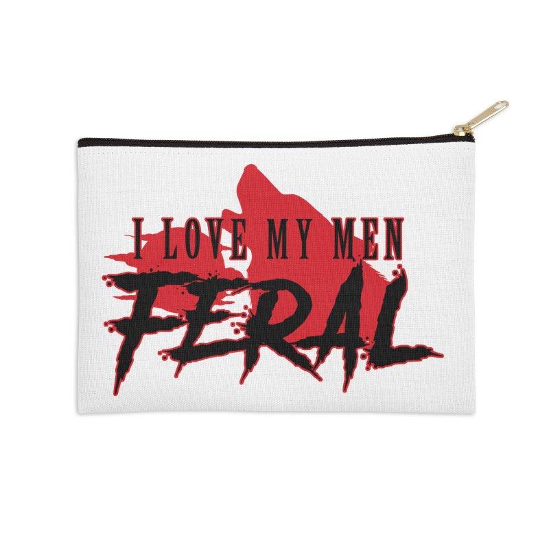 Feral Men- Wolf Accessories Zip Pouch by Kristen Banet's Universe