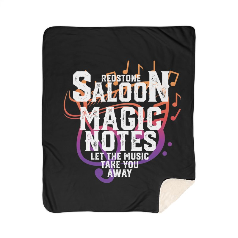 Magic Notes Saloon- Vr1 Home Blanket by Kristen Banet's Universe