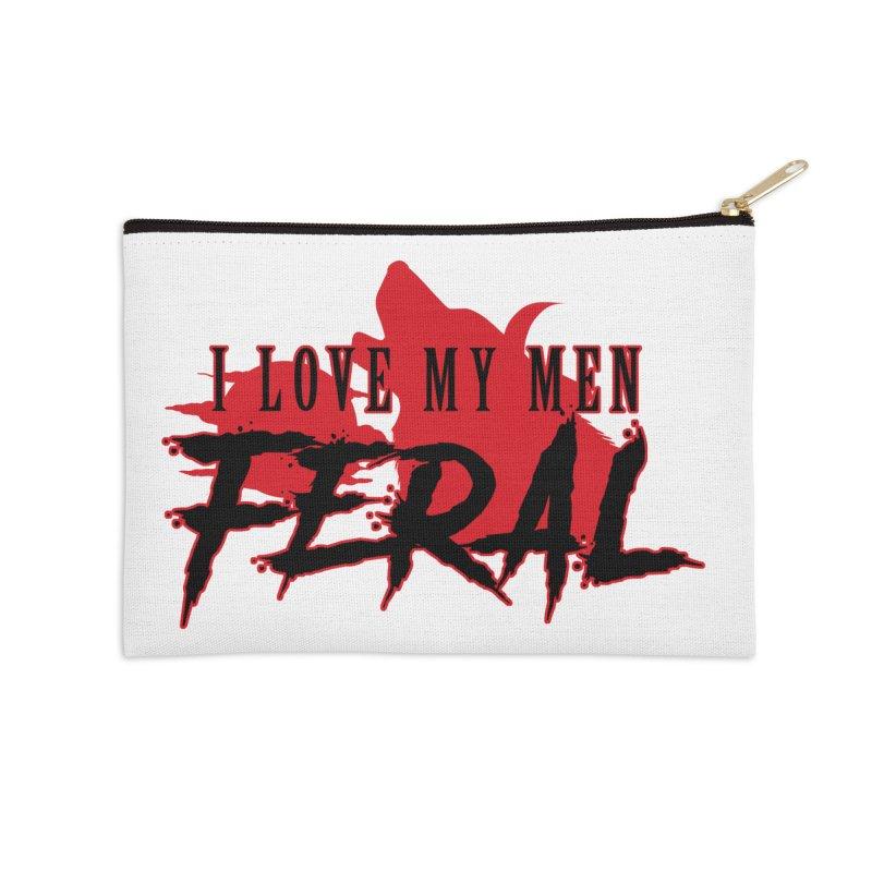 Feral Men- Hellhound Accessories Zip Pouch by Kristen Banet's Universe