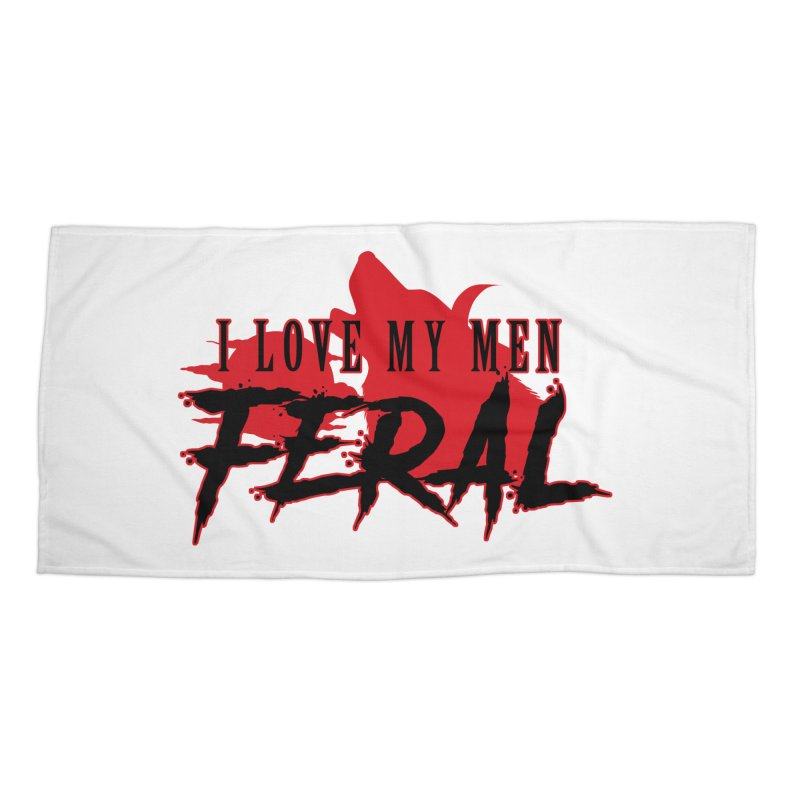 Feral Men- Hellhound Accessories Beach Towel by Kristen Banet's Universe