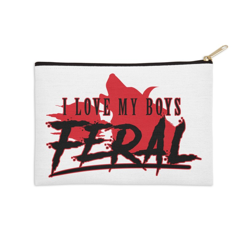 Feral Boys- Hellhound Accessories Zip Pouch by Kristen Banet's Universe
