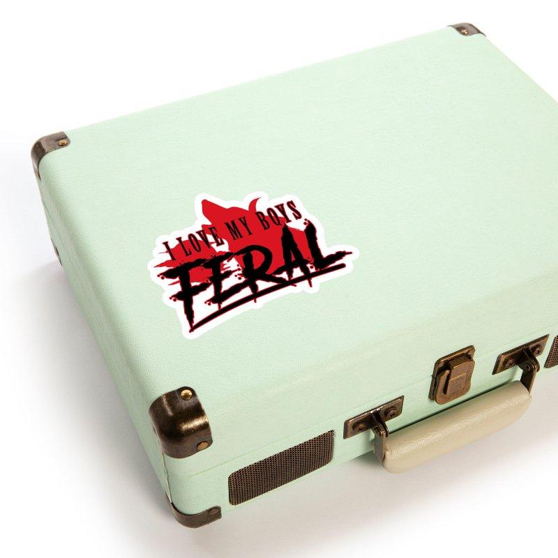 Feral Boys- Hellhound Accessories Sticker by Kristen Banet's Universe
