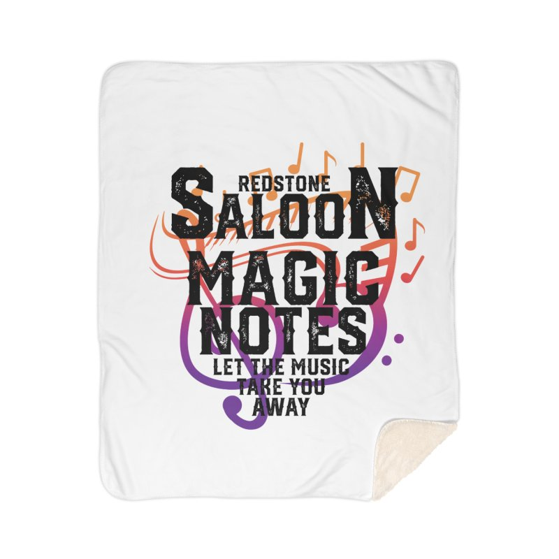 Magic Notes Saloon- Vr 2 Home Blanket by Kristen Banet's Universe