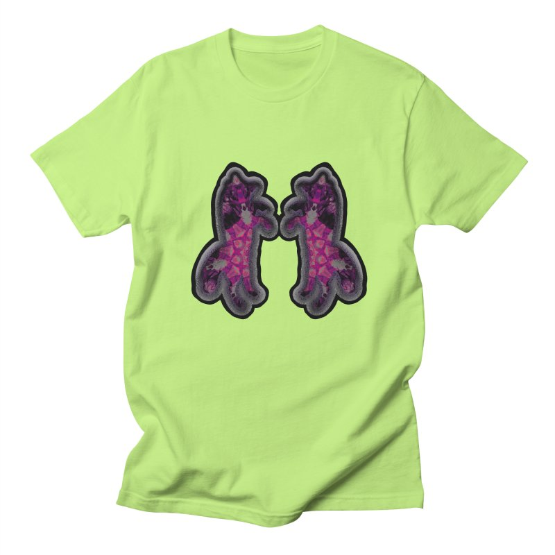 dancing fractal foxes Men's Regular T-Shirt by KristieRose Designs