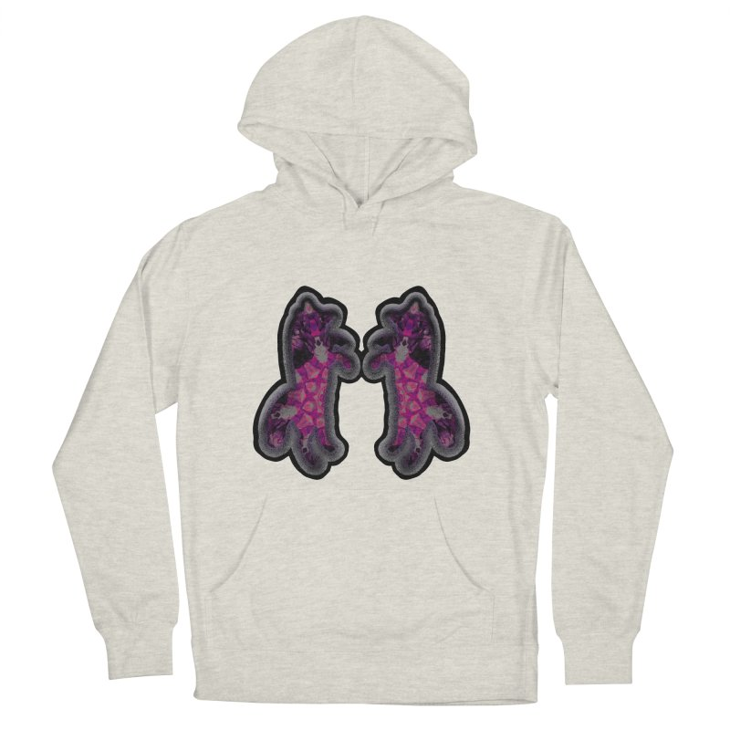 dancing fractal foxes Women's French Terry Pullover Hoody by KristieRose Designs