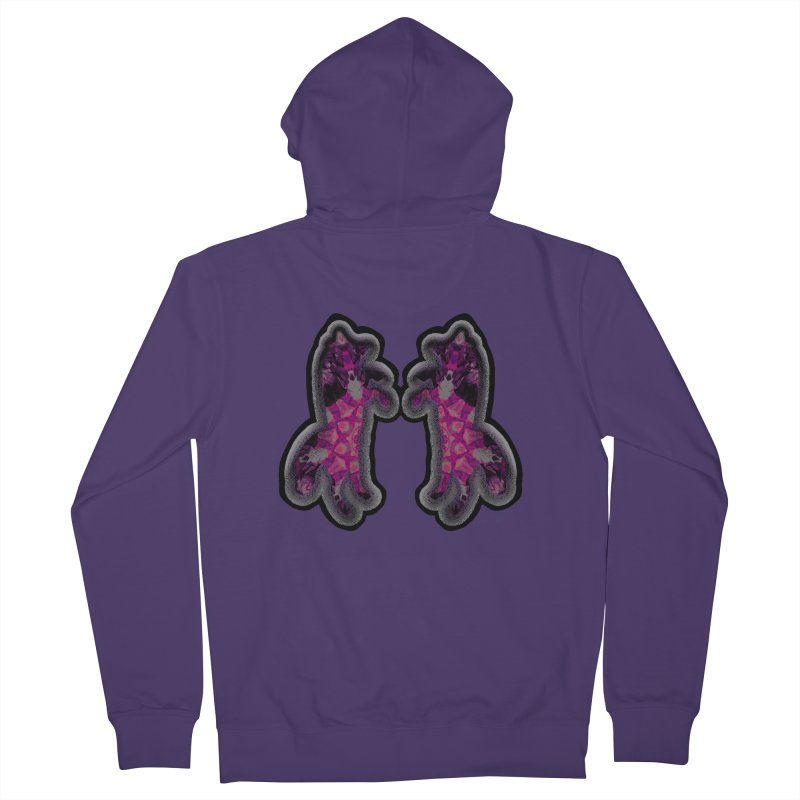 dancing fractal foxes Women's Zip-Up Hoody by KristieRose Designs