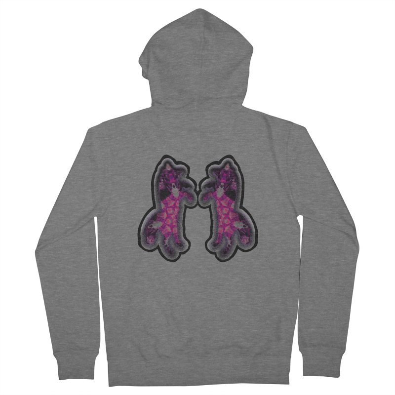 dancing fractal foxes Men's French Terry Zip-Up Hoody by KristieRose Designs